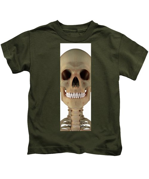 Bones Of The Head And Neck Wireframe Kids T-Shirt