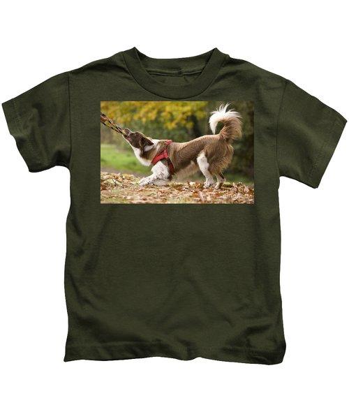 Border Collie Playing Kids T-Shirt