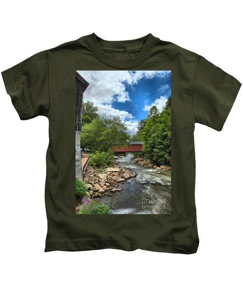 Bridging Slippery Rock Creek Kids T-Shirt