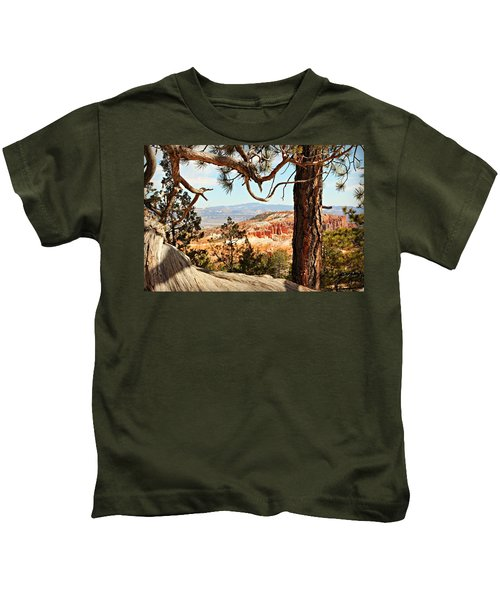 Bryce Canyon Through The Trees Kids T-Shirt