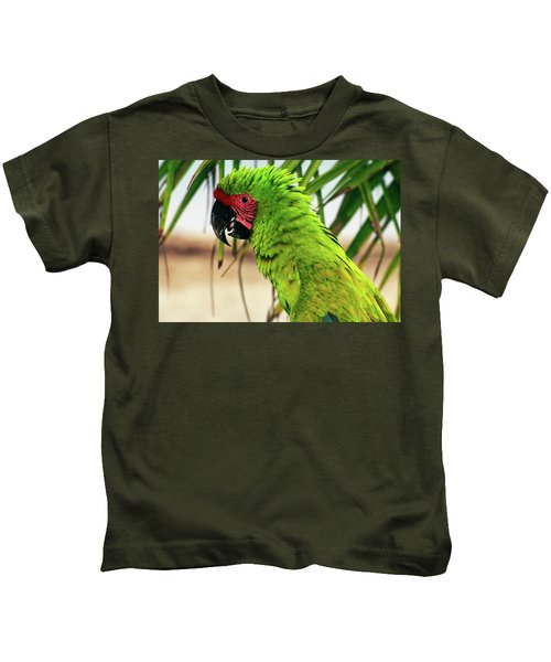 Buffons Macaw, Portrait Profile Kids T-Shirt