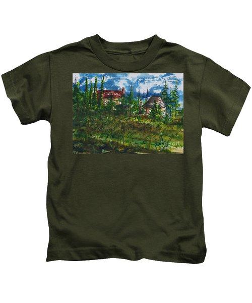 Burgundy In The Morning  Kids T-Shirt