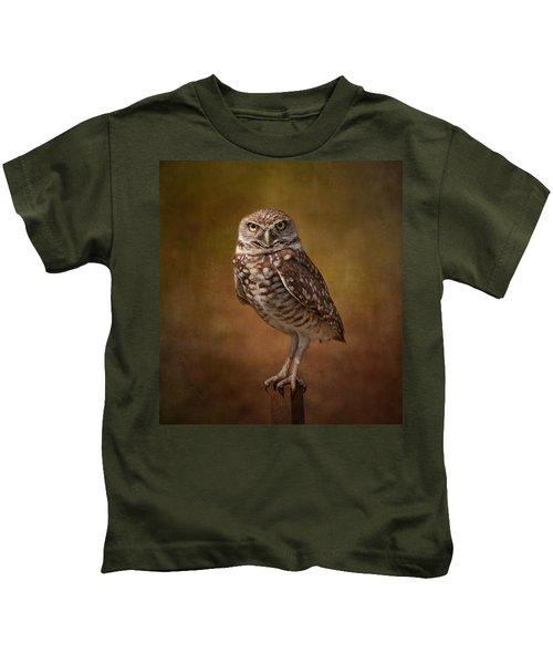 Burrowing Owl Portrait Kids T-Shirt