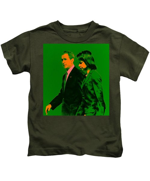 Bush And Rice Kids T-Shirt by Brian Reaves