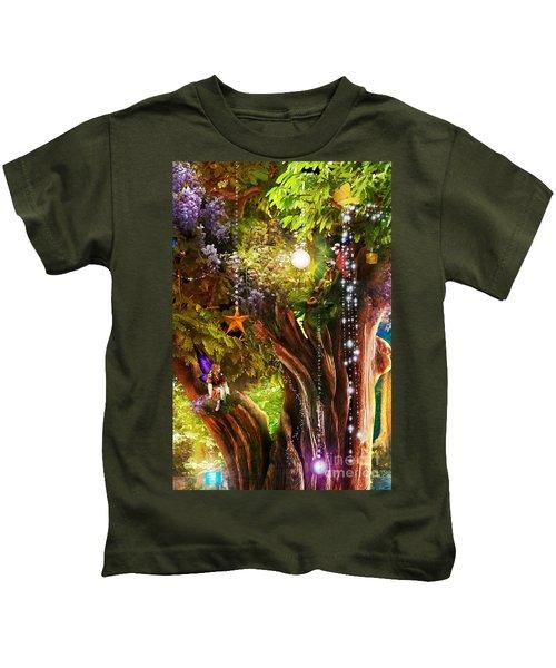 Butterfly Ball Tree Kids T-Shirt