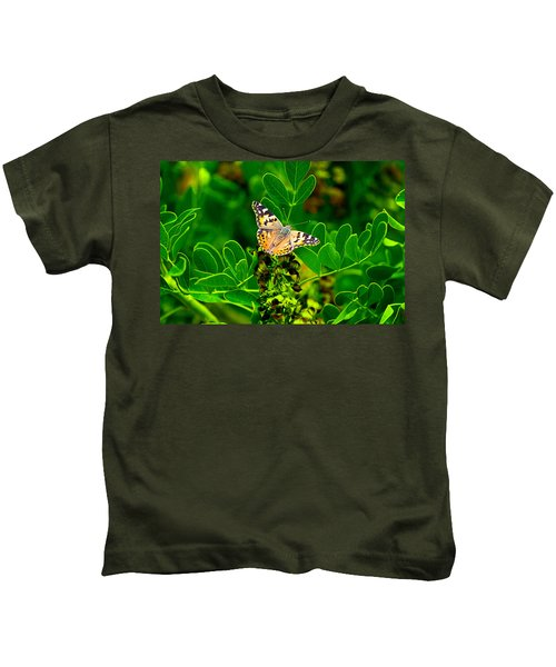 Butterfly In Paradise Kids T-Shirt