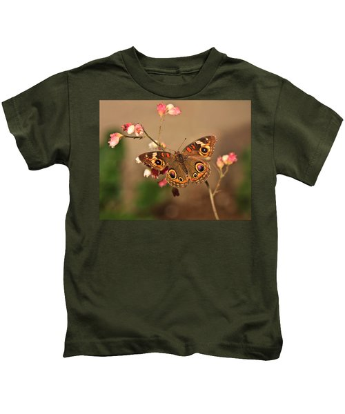 Butterfly On Pink Kids T-Shirt