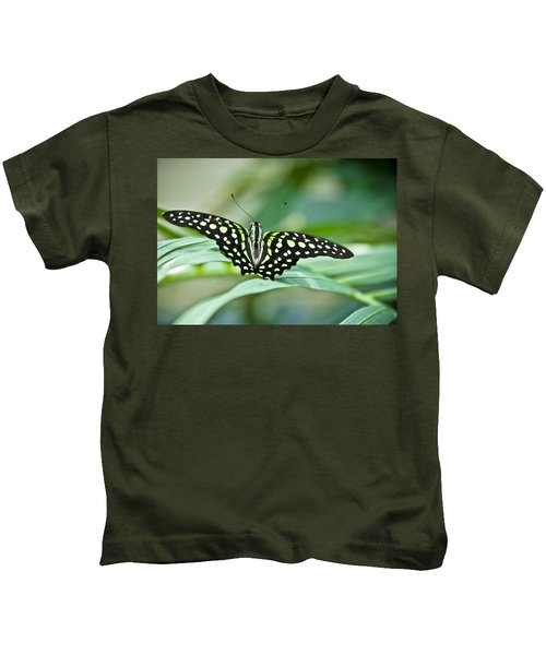 Butterfly Resting Color Kids T-Shirt