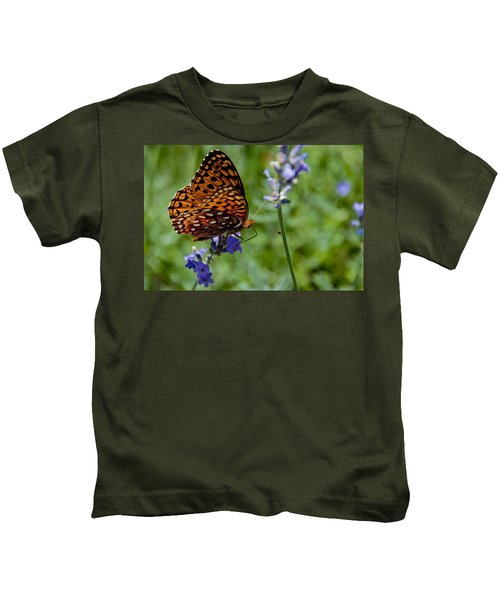 Butterfly Visit Kids T-Shirt