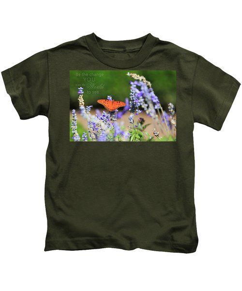 Butterfly With Message Kids T-Shirt