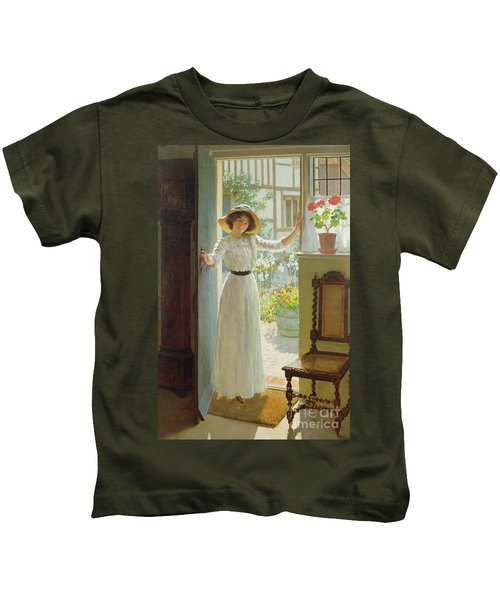 By The Cottage Door Kids T-Shirt