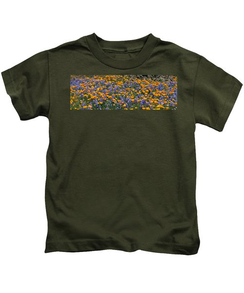 California Golden Poppies Eschscholzia Kids T-Shirt