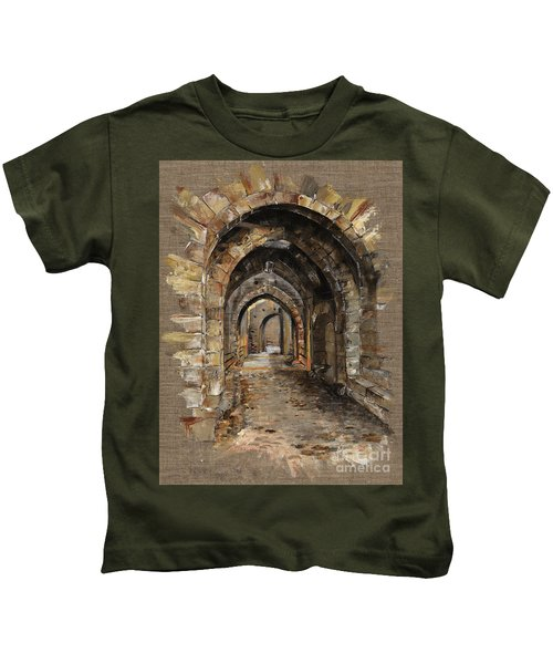 Camelot -  The Way To Ancient Times - Elena Yakubovich Kids T-Shirt