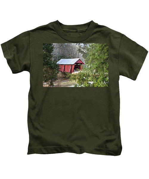 Campbell's Covered Bridge-1 Kids T-Shirt