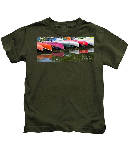 canoes - Lake Wingra - Madison  Kids T-Shirt