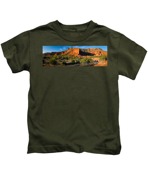 Caprock Canyons Panorama Kids T-Shirt
