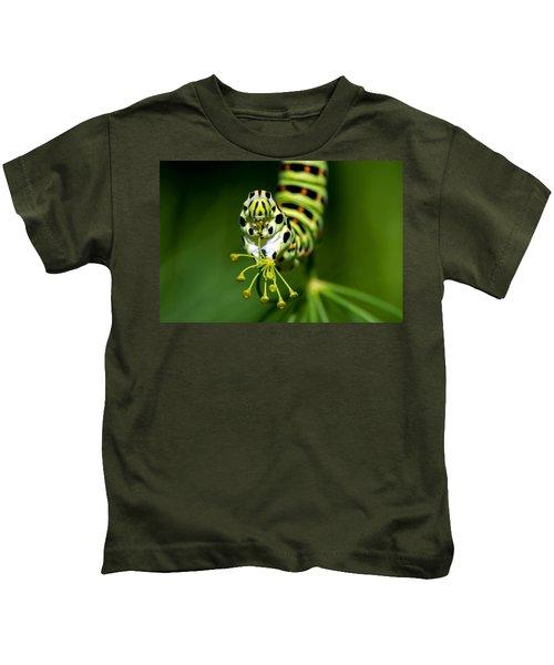 Caterpillar Of The Old World Swallowtail Kids T-Shirt
