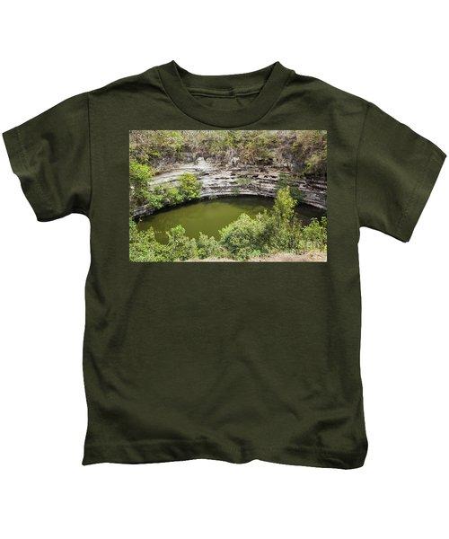Cenote Sagrado At Chichen Itza Kids T-Shirt
