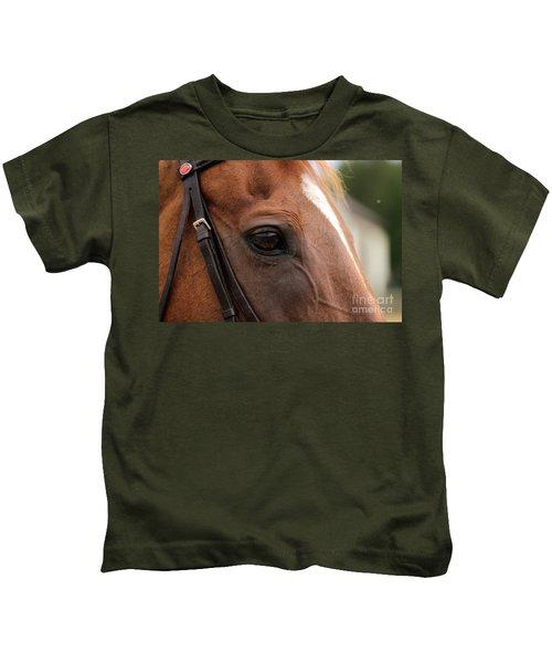 Chestnut Horse Eye Kids T-Shirt