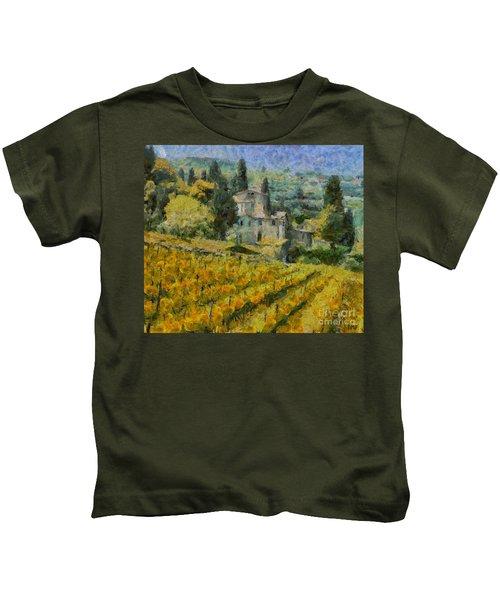 Chianti Vineyard Kids T-Shirt