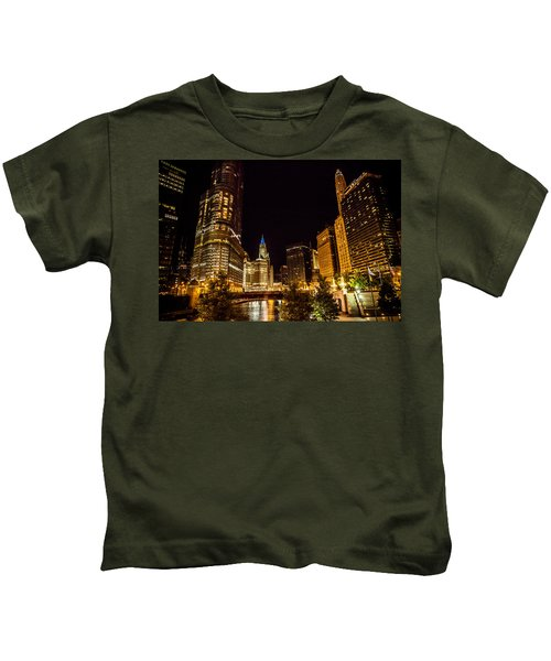 Chicago Riverwalk Kids T-Shirt