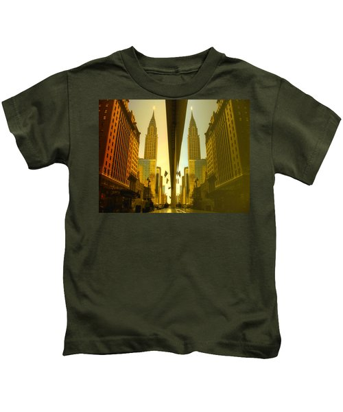 Chrysler Reflection On 42nd Street Kids T-Shirt