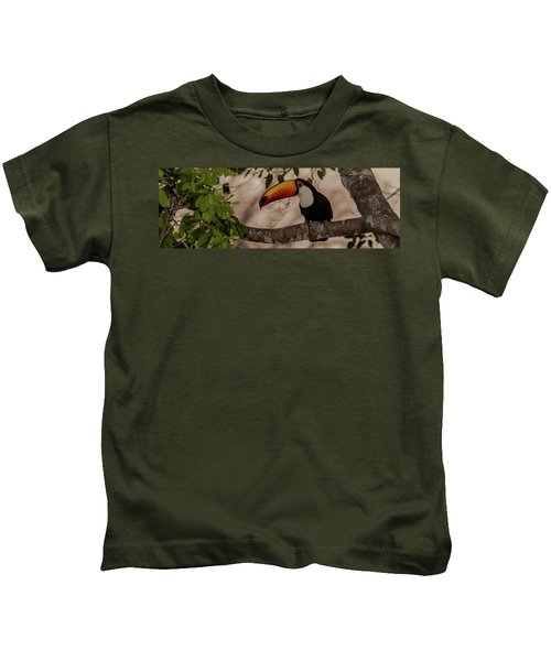 Close-up Of Tocu Toucan Ramphastos Toco Kids T-Shirt by Panoramic Images