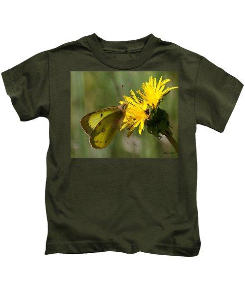 Clouded Sulfur Kids T-Shirt