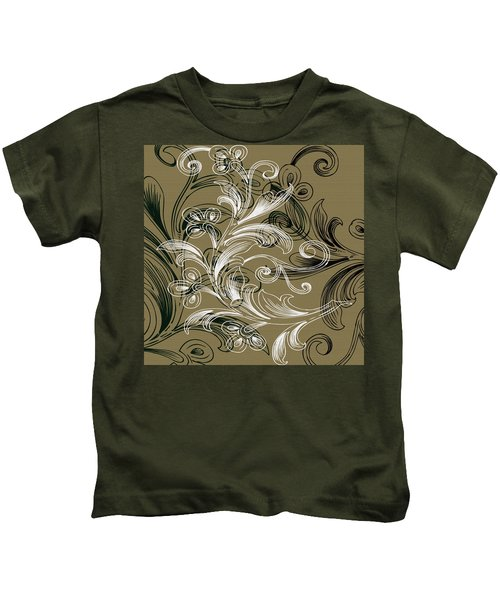 Coffee Flowers 4 Olive Kids T-Shirt