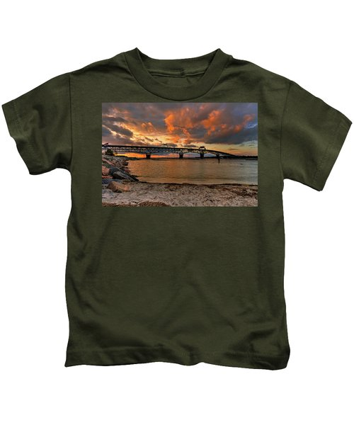 Coleman Bridge At Sunset Kids T-Shirt