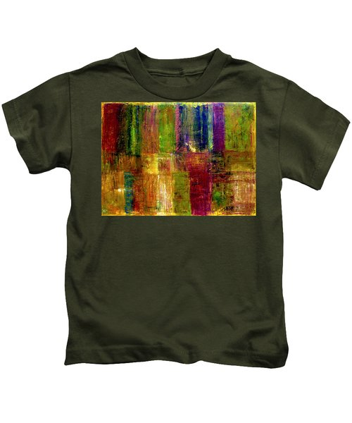Color Panel Abstract Kids T-Shirt