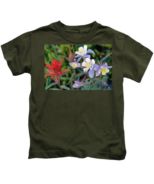 Colorado Blue Columbine Kids T-Shirt