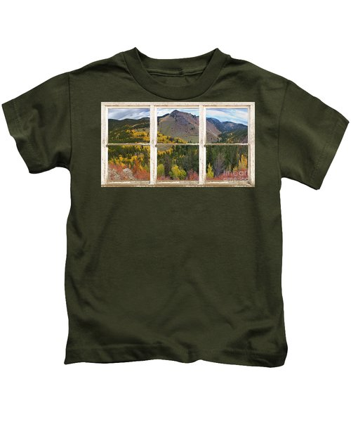 Colorful Colorado Rustic Window View Kids T-Shirt