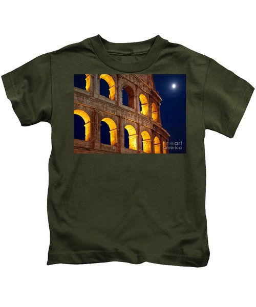 Colosseum And Moon Kids T-Shirt