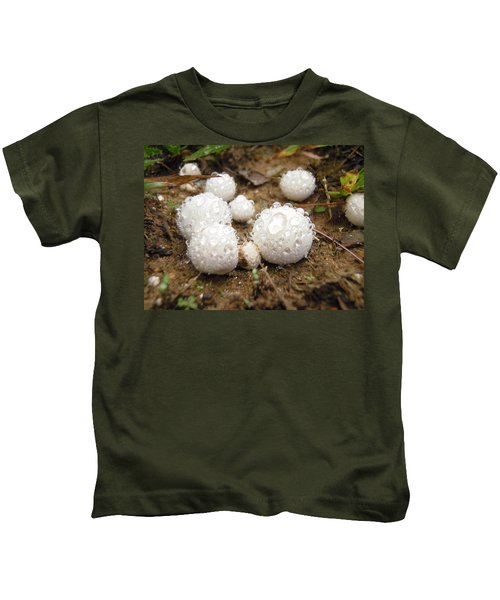 Common Puffball Dewdrop Harvest Kids T-Shirt