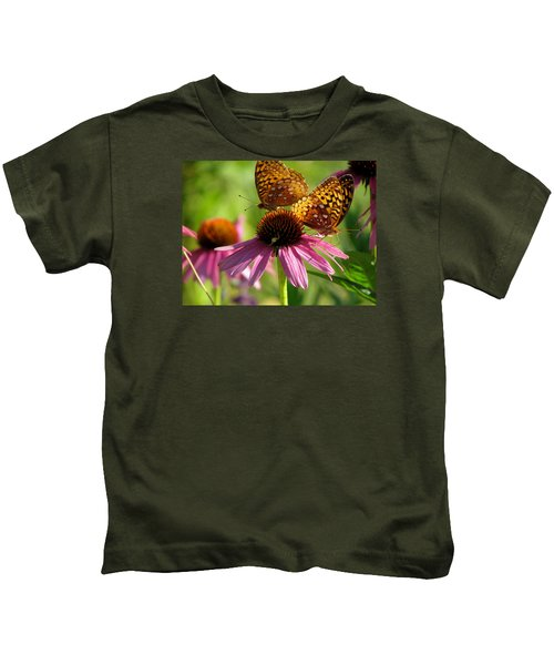 Coneflower Butterflies Kids T-Shirt
