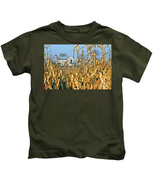 Corn Framed Barn Kids T-Shirt