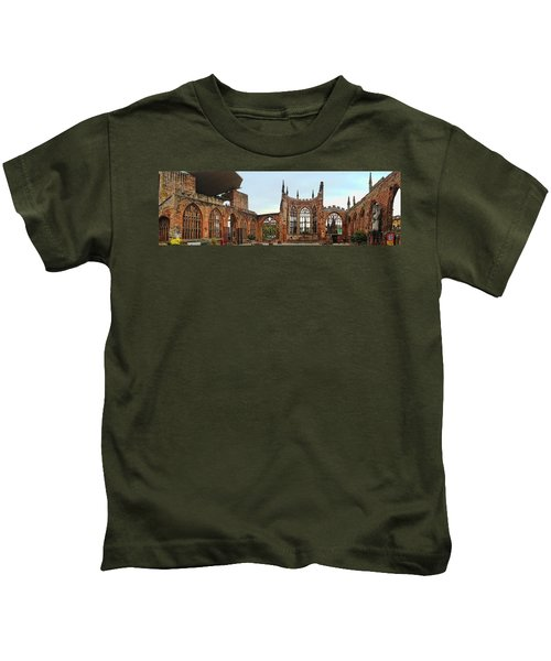 Coventry Cathedral Ruins Panorama Kids T-Shirt