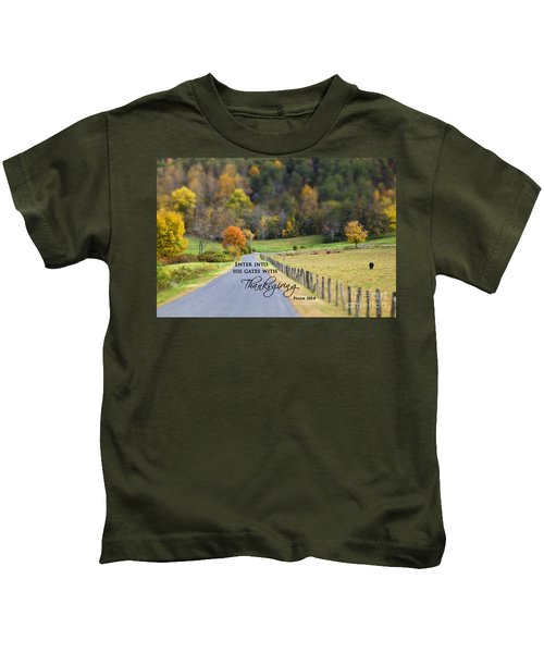 Cow Pasture With Scripture Kids T-Shirt