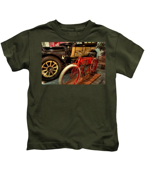 Crouch Motorcycle Kids T-Shirt