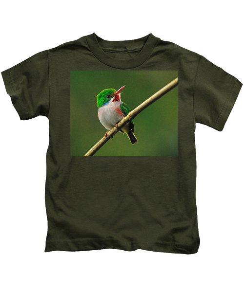 Cuban Tody Kids T-Shirt by Tony Beck