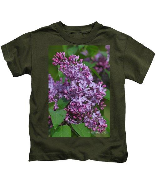 Dawns Lilacs Kids T-Shirt