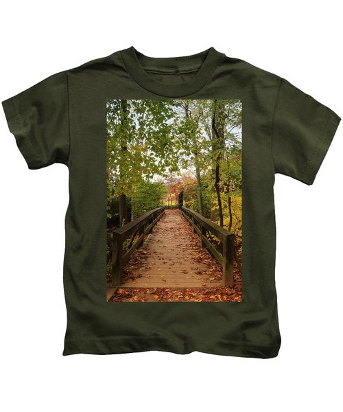 Decorate With Leaves - Holmdel Park Kids T-Shirt