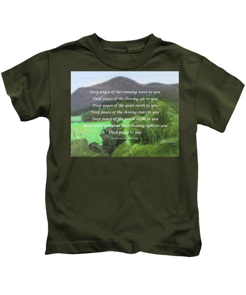Deep Peace With Ct River Valley Kids T-Shirt