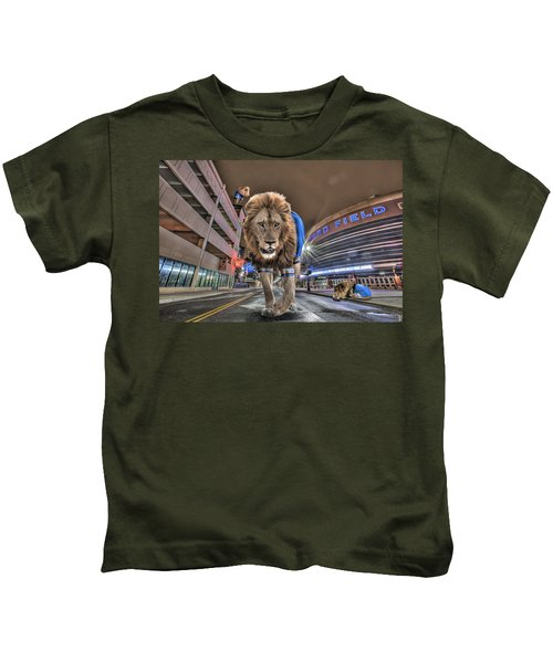 Detroit Lions At Ford Field Kids T-Shirt