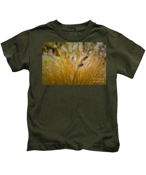 Dew On Ornamental Grass No. 4 Kids T-Shirt