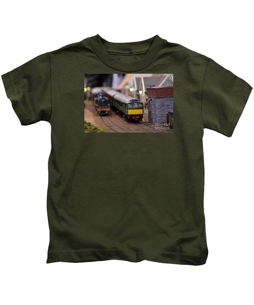Diesel Electric Model Train Railway Engine Kids T-Shirt