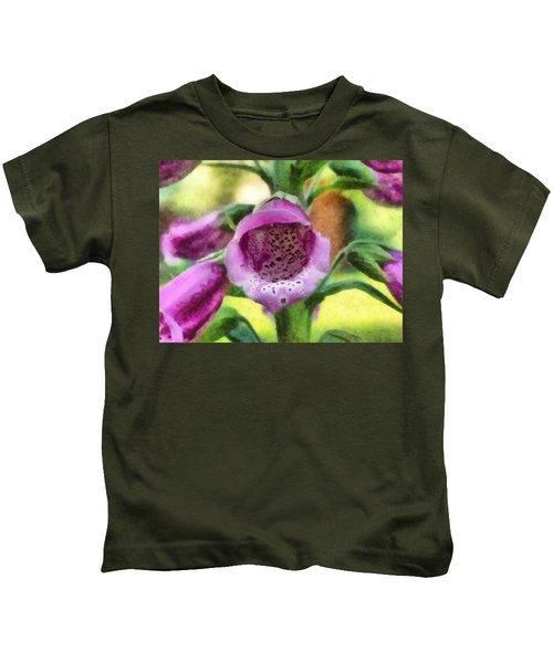 Digitalis Purpurea Kids T-Shirt