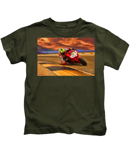 Domenic Caluori At Speed Kids T-Shirt