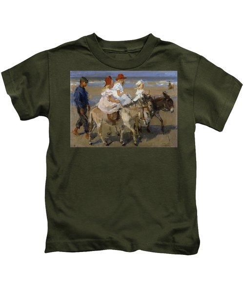 Donkey Rides Along The Beach Kids T-Shirt